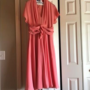 Gal Meets Glam Jane Tie-Waist MIDI Dress